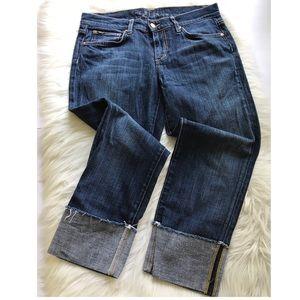 Joe's Jeans The Best Friend Rolled Cuff Crop Jeans